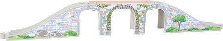 Treinbaan brug grijs/groen- spoorwegen