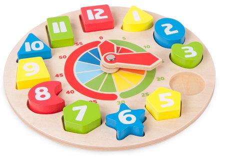 Leren klok kijken + Leren tellen - Multi kleuren