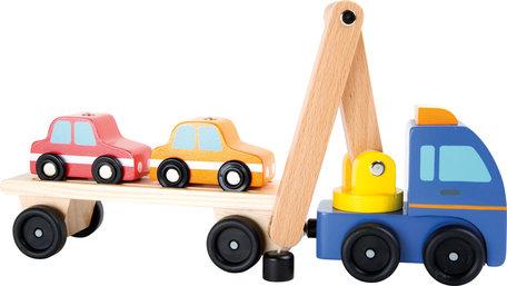 Auto Transporteur met laad kraan en aanhanger
