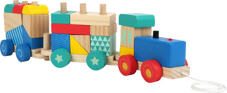 Trekfiguur Houten trein - Multi kleuren