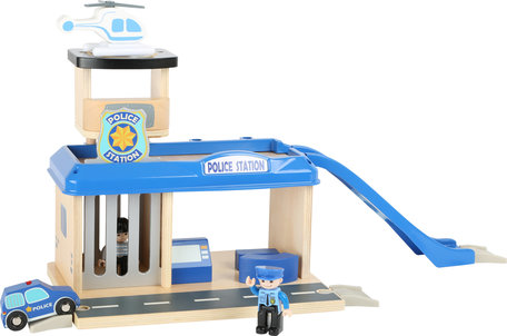 Politie bureau met accessoires