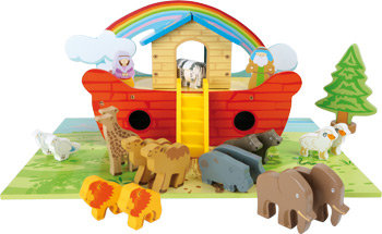 Wooden Noah's Ark Play Set