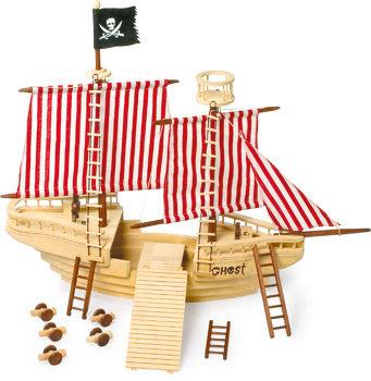 Houten piratenschip XXL