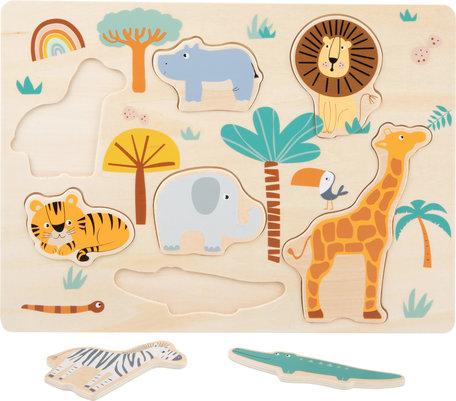 Safari dieren - Houten puzzel