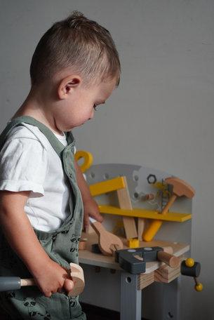 Houten speelgoed werkbank compact - Miniwob
