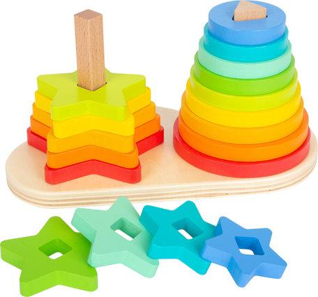 Regenboog stapeltoren