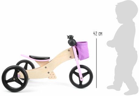 Trainingsfiets 2-in-1 Trike Roze