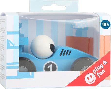 De blauwe race auto - FSC
