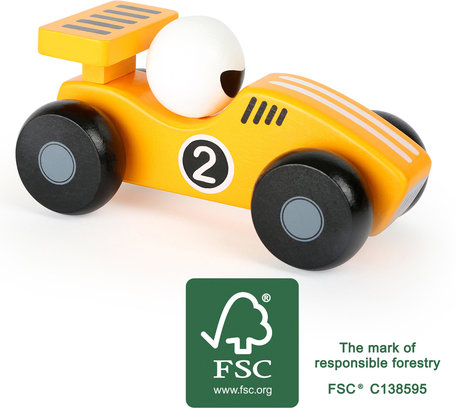 De gele race auto - FSC