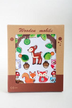 Houten mobiel - Dieren uit het bos