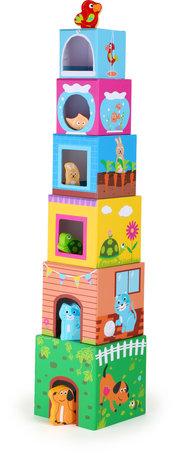 Stapel kubussen met huisdieren - Multi kleuren