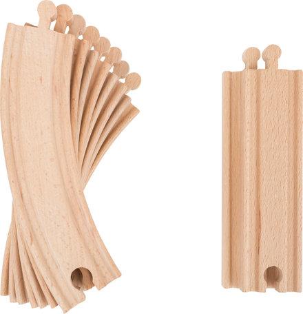 SESAMSTRAAT houten treinset - 27 stuks