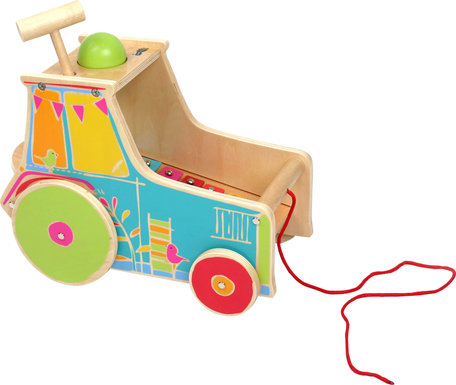 Trekfiguur tractor - motoriek trainer incl. Xylophone