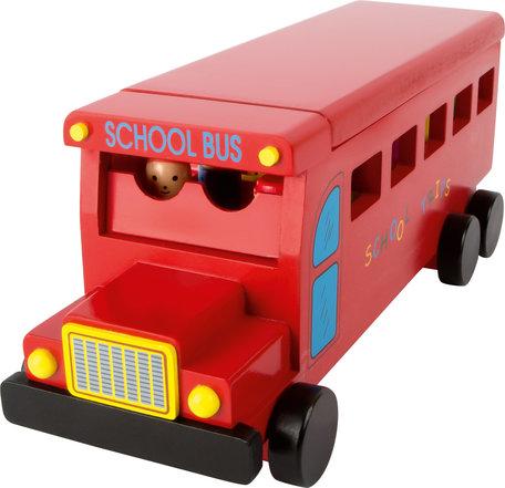 Houten school Bus - Rood
