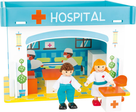 Speelhuis ziekenhuis met accessoires