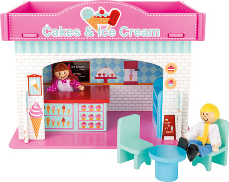 Speelhuis ijswinkel met accessoires