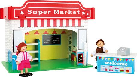 Speelhuis supermarkt met accessoires