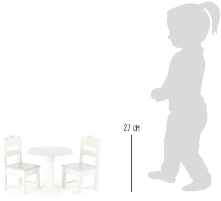 Poppen meubels - wit
