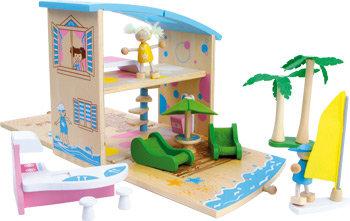 Huis in een houten box