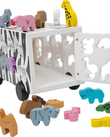 ABC vormenstoof dieren bus