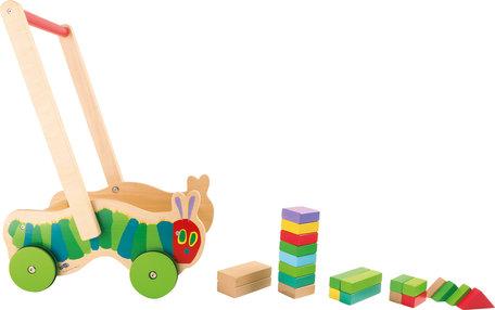 Rupsje Nooitgenoeg blokkenkar - 22 kleurrijke houten blokken