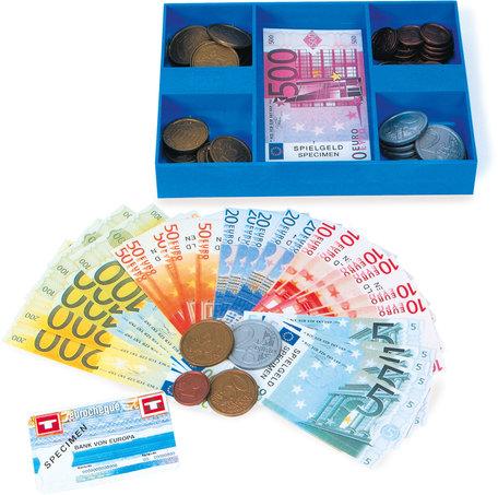 Box met euro speelgoedgeld