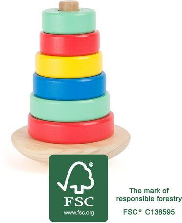 Stapel toren speelgoed -