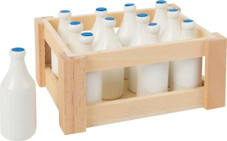 Melkflesjes in een kratje - 12 stuks