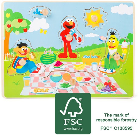 Puzzel SESAMSTRAAT - Picnic met Elmo - FSC