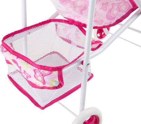 Poppenwagen/Buggy - Roze - lichtgewicht