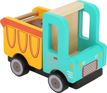 Houten vuilniswagen truck