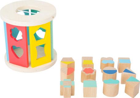 Houten Rolling vormen-sorterende Kubus - Pastel