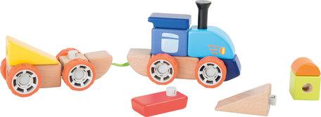Houten trein bouwset - ideaal voor alle jonge bouwingenieurs