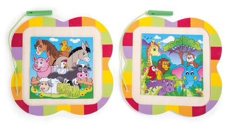 Puzzel Magnetic dieren lol - 2 Puzzels met 12 stukjes