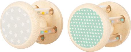 Baby Rammelaars Dieren Pastelkleuren - 2 stuks