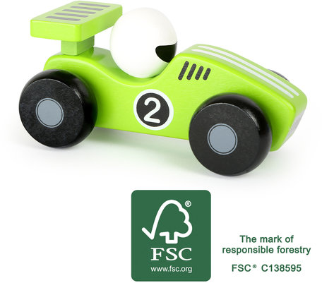 De groene race auto - FSC