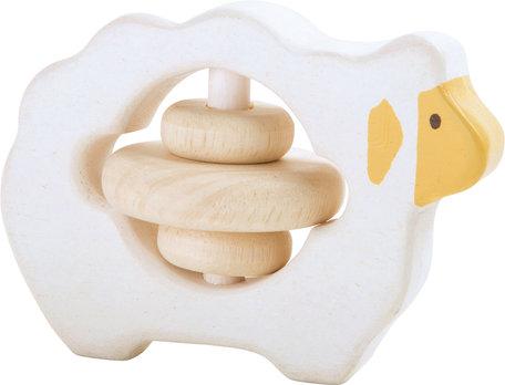 Houten rammelaar - schaapje