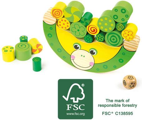Balancerend speelgoed - De kikker - Groen - FSC