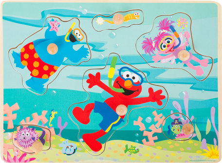 Puzzel SESAMSTRAAT - Onderwater wereld - FSC®