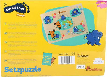 Puzzel met olifant en de muis