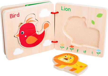 Houten puzzelboek - dieren