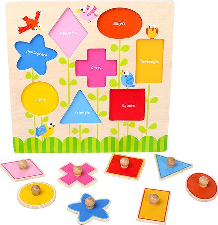 Puzzel geometrische vormen (engels)