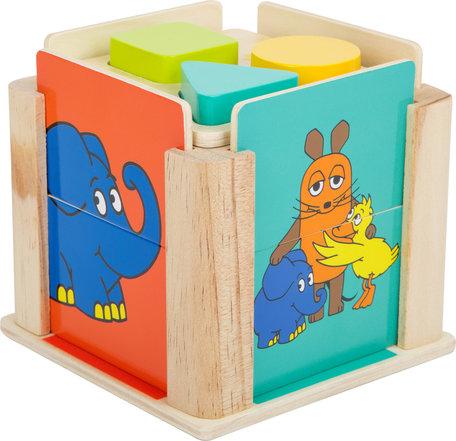 Vormenstoof kubus met de olifant en muis!