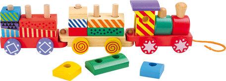 Trekfiguur houten trein