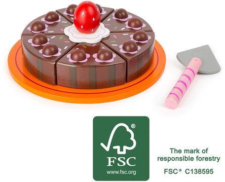 Chocolade cake speelset - FSC