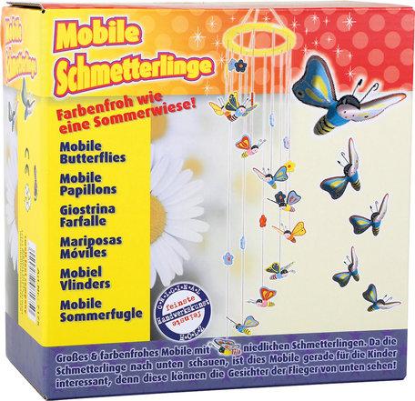 Houten mobiel - Vlinders