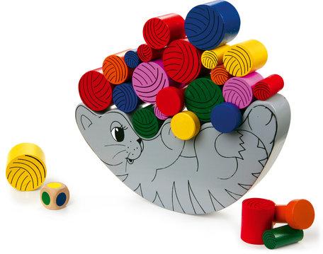 Balans spel - De kat en de wol - 22 stuks