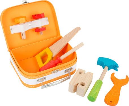 Houten gereedschap in koffer - 9 stuks