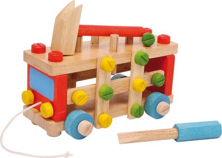 Trekfiguur bouw auto - hamerbank + gereedschap