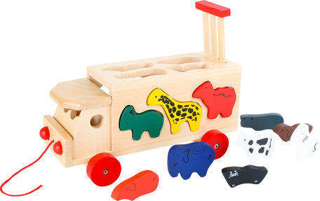 Dierentuinkar met vormenstoof en blokken - Wilde dieren